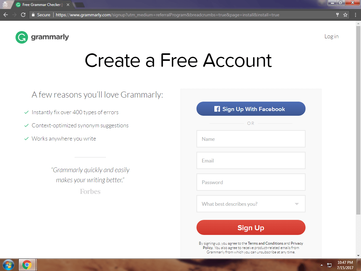 Grammarly premium account free