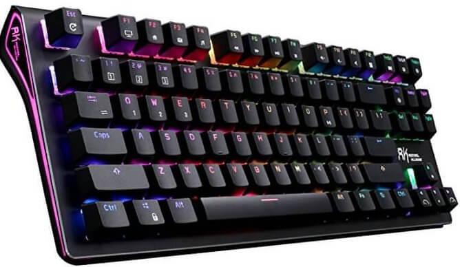 RK wireless LED mechanical backlit keyboard
