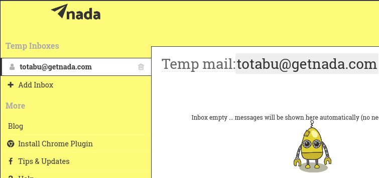 Get Air Mail Temporary