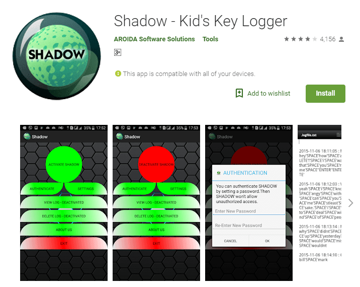 best free keylogger apps for android