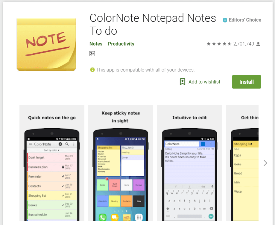 evernote alternative for android