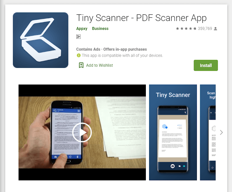 alternatives to camscanner